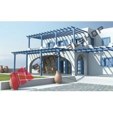 Πέργκολα Classic Aluminco σε χρώμα Ral,διαστάσεων 600x400, ύψους 3 μέτρων