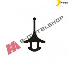 Ελαστικό (λάστιχο)στεγάνωσης πορτών Μ9400 EPDM μαύρο Alumil 2501117001 (τιμή μέτρου)