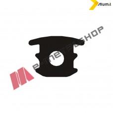 Ελαστικό (λάστιχο) κάλυψης οδηγών συρομένων EPDM μαύρο Alumil 2400031201 (τιμή μέτρου) Μ14600