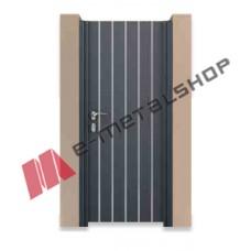 Μονόφυλλη ανοιγόμενη αυλόπορτα Aluminco GV01.01 100x100 (Ral)