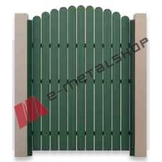 Μονόφυλλη ανοιγόμενη αυλόπορτα Aluminco KP.020 100x100 (Ral)