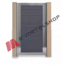 Μονόφυλλη ανοιγόμενη αυλόπορτα Aluminco GC12 100x100 (Ral)
