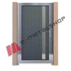 Μονόφυλλη ανοιγόμενη αυλόπορτα Aluminco GC10 100x100 (Ral)