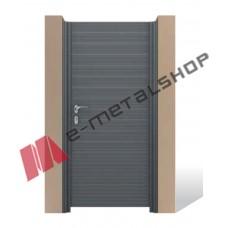 Μονόφυλλη ανοιγόμενη αυλόπορτα Aluminco GH01.02 100x100 (Ral)