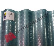 Ανάγλυφο κυματοειδές αυλακωτό μασίφ πολυκαρβονικο φύλλο πάνελ (τιμή τετραγωνικού)