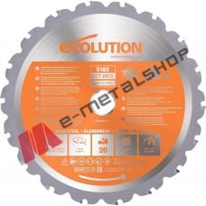 Δίσκος κοπής ξύλου/αλουμινίου/σιδήρου 185mm Multi Blade EVOLUTION (#RAGEBLADE)