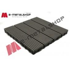 Συνθετικό πλακάκι Deck WPC 50 γκρί σκούρο 30x30x2,50cm (η τιμή αφορά το τεμάχιο)