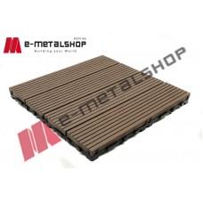 Συνθετικό πλακάκι Deck WPC 110 καφέ σκούρο 30x30x2,50cm (η τιμή αφορά το τεμάχιο)