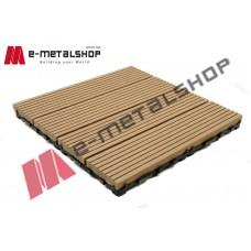 Συνθετικό πλακάκι Deck WPC 150 μελί 30x30x2,50cm (η τιμή αφορά το τεμάχιο)
