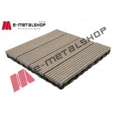 Συνθετικό πλακάκι Deck WPC 180 γκρί ανοιχτό 30x30x2,50cm (η τιμή αφορά το τεμάχιο)