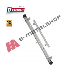 Καρέ D-FENDER 2 Κλειδωμάτων για κλειδαριά ή σπανιολέτα ALUMIL 9200 (75301) Domus