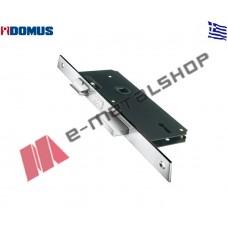 Κλειδαριά μεσόπορτας χρωμίου με κέντρα 40-75 (80540 ) Domus