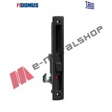 Κλειδαριά Kliklok για συρόμενες πόρτες αλουμινίου μαύρη Domus (7610M)
