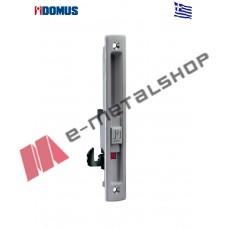 Κλειδαριά Kliklok για συρόμενες πόρτες αλουμινίου γκρί-ασημί Domus (7610Z)