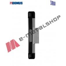 Πρόσθετη ασφάλεια συρόμενων για μονόφυλλο, αημί με μαύρα καπακια 6463X Domus