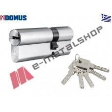 Αφαλός υψίστης ασφαλείας Alfa 75mm 30/45 ασημί Domus (24075K)