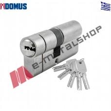 Κύλινδρος ασφαλείας Econ 75mm (30-45) και μετά το σπάσιμο ασημί (Nickel) Domus (21075K)