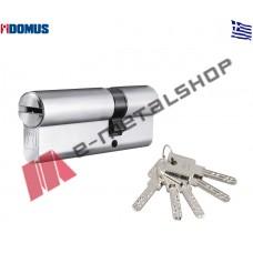Αφαλός υψίστης ασφαλείας econ 83mm 30/53 με προστασία και μετά το σπάσιμο ασημί Domus (21083K)