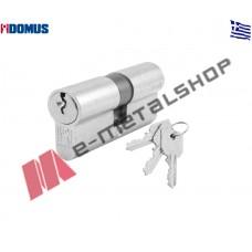 Κύλινδρος απλός 83mm (30-53) ασημί Domus (16083K)