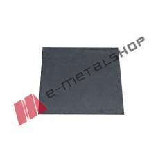 Φλάτζα για κοιλοδοκό μαύρη 250x250x8