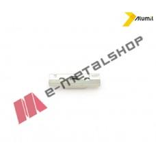 Αντίκρυσμα κλειδαριάς συρομένου ασημί 6304064301 Alumil in line 16720