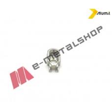 Αντίκρυσμα κλειδαριάς συρομένου εξτρα αντιλιφτ ασημί Alumil 6301819601