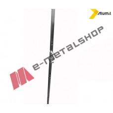 Κλειδαριά συρομένου Alumil 1600mm BS15 με κλείδωμα 2 σημείων (4404164100)