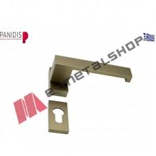 Πόμολο-χειρολαβή διπλή με επιστόμιο,MAKEDONIKI φυσική ανοδίωση (HA-1300)