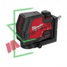 Επαναφορτιζόμενο USB Γραμμικό Laser 2 Γραμμών Πράσινης Δέσμης (1x3.0Ah) Milwaukee M12 3PL-401C (4933478098)