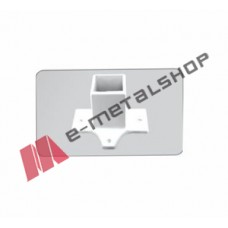 Βάση για δοκούς 40x40mm με 3 στηρίγματα χρωμα λευκό