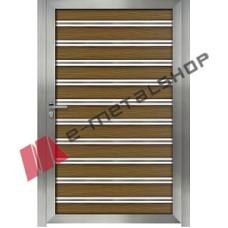 Πόρτα ανοιγόμενη με τάβλες wpc 1.00 Χ 1.34,5
