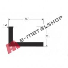 Γωνία G60x20x1.2 Λευκή 5m (τιμή μέτρου)